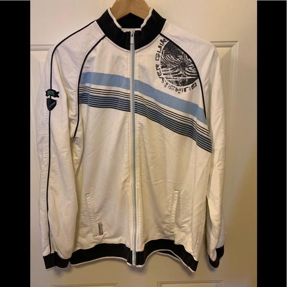 Quiksilver Other - Quicksilver zip cotton track jacket sweatshirt